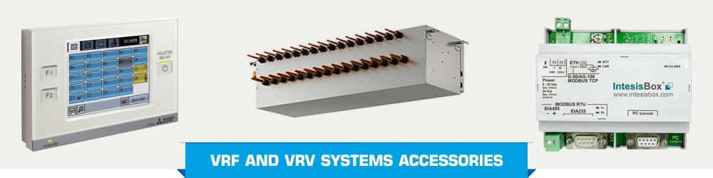 Accessories for VRF and VRV systems