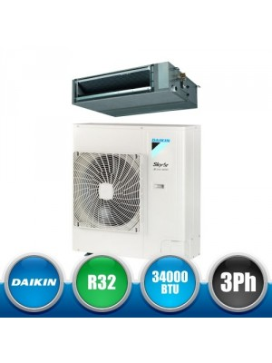 DAIKIN AZAS100MY1 + FBA100A Kit Monosplit Canalizzabile SkyAir Active Series R32 DC Inverter Media Prevalenza - 34000 BTU Trifase
