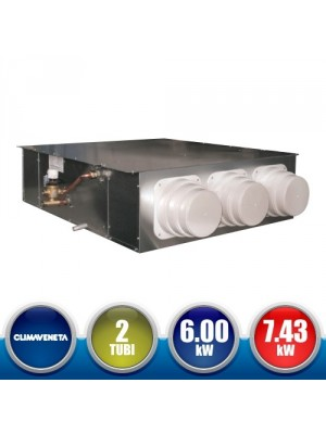 CLIMAVENETA a-HWD2 2T DLIO 102 High Prevalence Canalized Hydronic Terminal - 6.00 kW Recessed Version