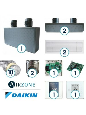 AIRZONE Complete System for Zone Management with Residential Daikin Ductable System - 2 Environments