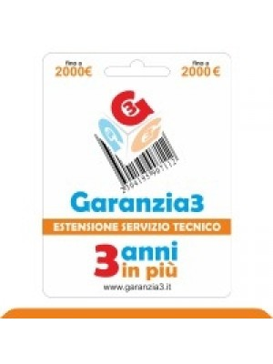 Garanzia3 2000 - Extension of Technical Service for Additional 3 Years