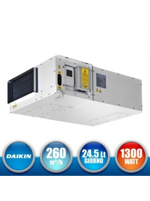 DAIKIN IT.RER020IE0000 1300W Dehumidifier with High Efficiency Heat Recovery and Heat Recovery System - 260 mc/h
