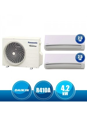 PANASONIC CU-2RE15SBE + CS-RZ25VKEW + CS-RZ25VKEW Compact Dualsplit Kit RE/RZ Inverter R410A - 4.2 kW