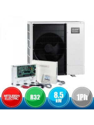 MITSUBISHI ELECTRIC PAC-IF071B-E + PUZ-WM85VAA FTC6 Ecodan R32 Packaged System for Cooling and Heating - 8.5 kW Single-Phase
