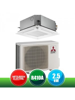 MITSUBISHI ELECTRIC SUZ-KA25VA6 + SLZ-M25FA Monosplit 4-way Cassette Air conditioner Kit 60x60 - 9000 BTU