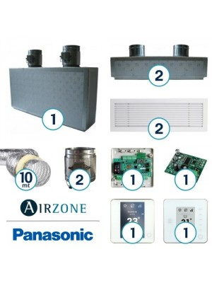 AIRZONE Complete System for Zone Management with Panasonic Ducted System - 2 Environments