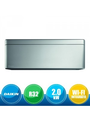 DAIKIN FTXA20AS Wall Mounted Indoor Unit Stylish Bluevolution with Front Panel Silver - 7000 BTU