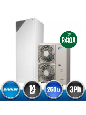 DAIKIN IT.EHVX16/014CW1 Integrated R410A Air-Water Heat Pump Kit at Low Temperature - 14kW R3 260L Three-Phase