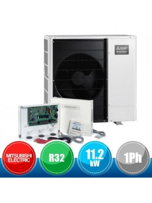 MITSUBISHI ELECTRIC PAC-IF071B-E + PUZ-WM112VAA FTC6 Ecodan R32 Packaged System for Cooling and Heating - 11.2 kW Single-Phase