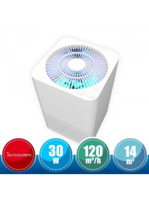 TECNOSYSTEMI HCC300004 Air Purifier for Rooms with UV Lamp and HEPA Filter - 14 sqm