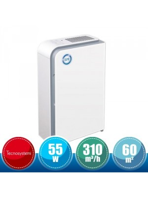 TECNOSYSTEMI HCC300005 Air Purifier for Rooms with UV Lamp and HEPA Filter - 60 sqm
